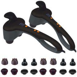 SOGA 2X Portable Handheld Massager Soothing Heat Stimulate Blood Flow Foot Shoulder