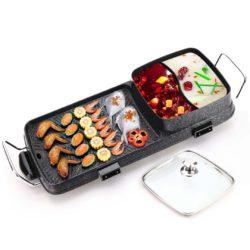 SOGA 2 in 1 Electric BBQ Grill Teppanyaki and Steamboat Hotpot Asian Hot Pot