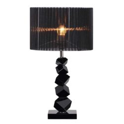 SOGA 55cm Black Table Lamp with Dark Shade LED Desk Lamp
