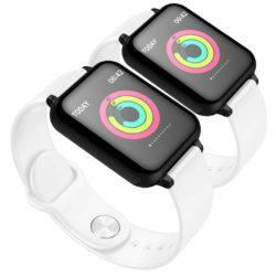 SOGA 2X Waterproof Fitness Smart Wrist Watch Heart Rate Monitor Tracker White