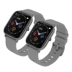 SOGA 2X Waterproof Fitness Smart Wrist Watch Heart Rate Monitor Tracker P8 Grey