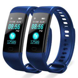 SOGA 2X Sport Smart Watch Health Fitness Wrist Band Bracelet Activity Tracker Blue